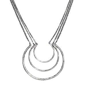Lucky Brand Triple Layer Ring Necklace